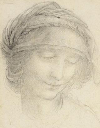 Leonardo da Vinci - A study for the head of St Anne, c.1510-15