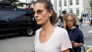 Clare Bronfman arriving at court