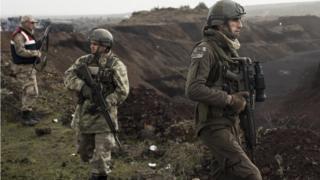Türkiye-Suriye sınırındaki Türk askerleri