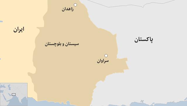 نقشه سراوان