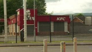 KFC drive through in north Belfast