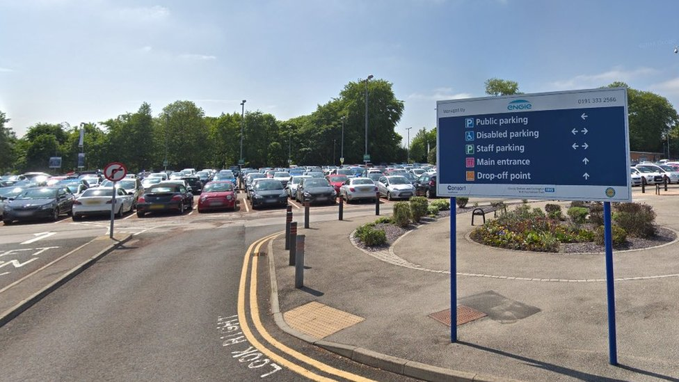 University Hospital of North Durham car park