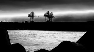 Port Talbot docks view