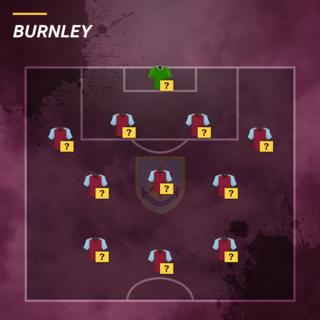 Burnley team selector graphic
