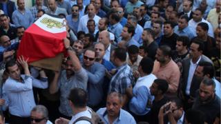 تشيع جثمان أحد ضحايا هجوم الواحات