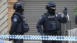 ماموران مسلح پلیس در ملبورن