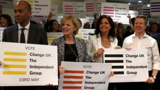 Chuka Umunna, Anna Soubry, Heidi Allen and Chris Leslie left their parties to form Change UK