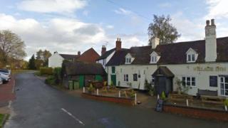 The village pub at Twyning Green