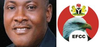 Innocent Chukwuma and EFCC logo