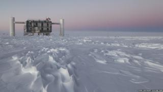 The main IceCube laboratory, above ground in Antarctica