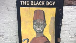 Black Boy sign