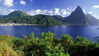 A stock image of St Lucia