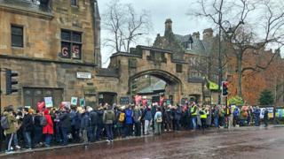 science Glasgow University strike