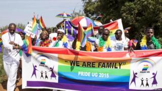 Impirimbanyi zizihiza Gay pride mu mujyi wa Uganda mu mwaka ushize