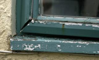 Window frame in need of repair
