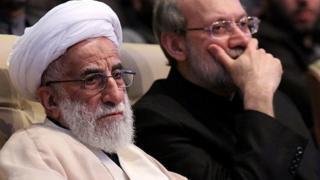 علی لاریجانی (سمت راست) و احمد جنتی