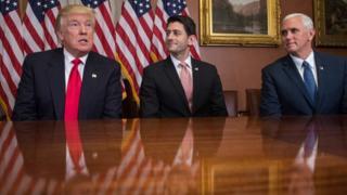 Donald Trump, Paul Ryan ve Mike Pence