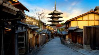 Улица японского древнего города