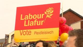 Welsh Labour placard