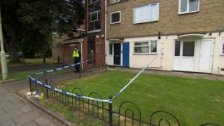 Police cordon around Ah'Keill Walker's family home in Gloucester