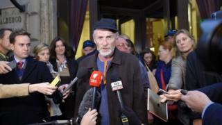 Paul Auchettl speaking to media in Rome in 2016