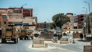 La police égyptienne en patrouille dans le Sinaï.