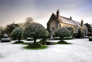 Stavordale Priory in Winter by Jason Ingram