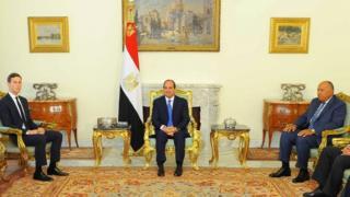 وزير الخارجية المصري سامح شكري وكوشنر، زوج ابنة الرئيس الأمريكي دونالد ترامب