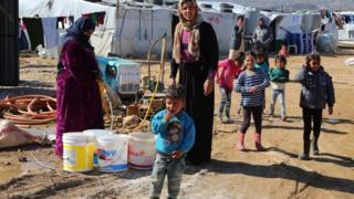 جانب من مخيم للاجئين السوريين