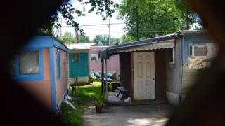Some of the trailers at the trailer park