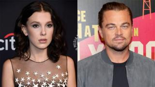 Millie Bobbie Brown and Leonardo DiCaprio