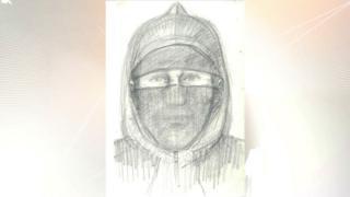 Artist impression of the suspect