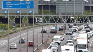 Traffic congestion on the M25