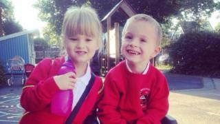 Sarah Brisdion's twins Erica and Hadley