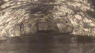 The inside of the Baltimore sewer was caked in congealed fat