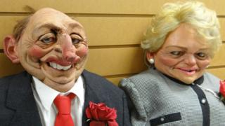 Neil and Glenys Kinnock puppets