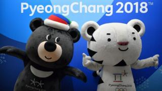 Mascots of the Pyeongchang Olympics
