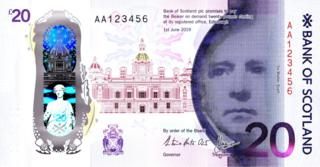 The front of the new £20 note