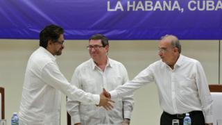 Anuncio del acuerdo definitivo entre las FARC y el gobierno de Colombia