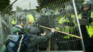 G8 riot at Auchterarder 2005