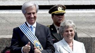 María Auxiliadora Delgado y Tabaré Vázquez