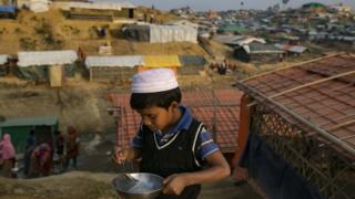 Pengungsi Rohignya di kamp Cox's Bazar.