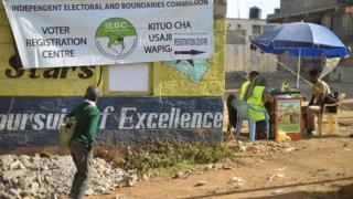Kituo cha kusajili wapiga kura Kenya Januari 18, 2017