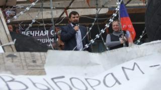 Денис Пушилин на баррикадах