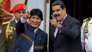 Evo Morales (izquierda) y Nicolás Maduro
