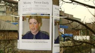 Missing person poster of Trevor Deely