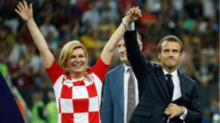 President Kolinda Grabar-Kitarovic na di first female president of Croatia.
