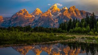 Grand Teton range in the Rocky Mountains