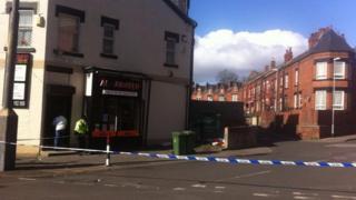 A police cordon in Harehills