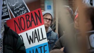 Chicago'daki protesto eylemi, 11 Şubat 2017